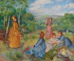 """Renoir's """"Girls Playing Battledore and Shuttlecock"""""""
