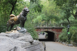 """""""Balto the Dog"""" statue in New York's Central Park"""