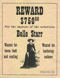 Belle Starr wanted poster
