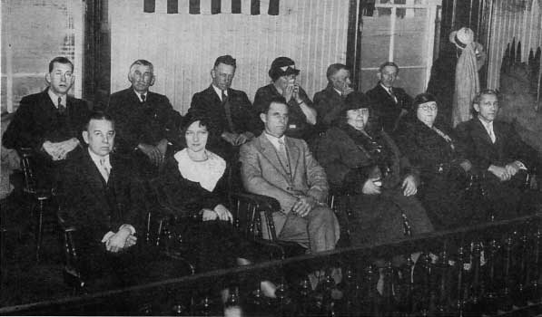 The Hauptmann trial jury/Photo: jimfisher.edinboro.edu